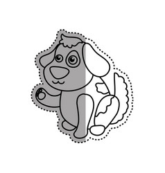 dog cartoon drawing sitting vector image