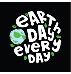 Earth day quote and saying vector