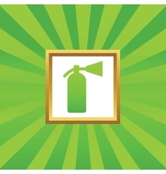 Fire extinguisher picture icon vector