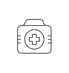 First aid kit line outline icon vector