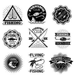 Fishing hook logo set simple style vector