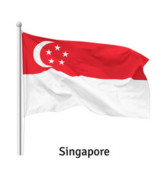 Flag republic singapore vector