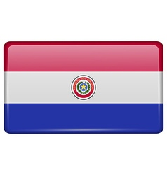 Flags Paraguay in the form of a magnet on vector