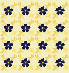 flowers seamless pattern leaves vector image