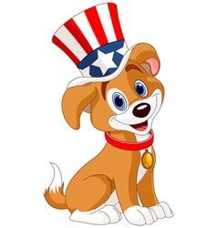 Fourth of July puppy vector image