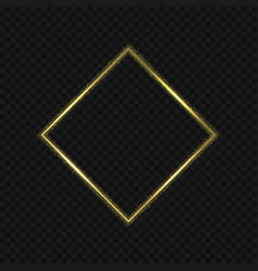 Golden rhomb shape vector