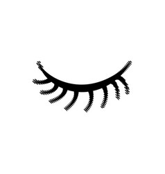 Grated close vision eye with eyelashes style vector
