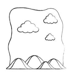 Grunge ecology mountains nature preserve landscape vector