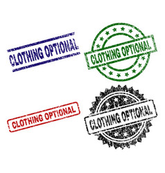 Grunge textured clothing optional seal stamps vector