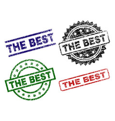 Grunge textured the best seal stamps vector