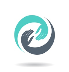 Hands in Circle logo vector image
