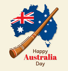 happy australia day design national flag vector image