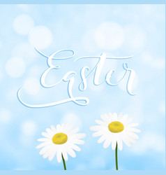 happy easter greeting card invitation vector image