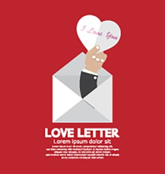 Heart In Hand Love Letter Concept vector image vector image