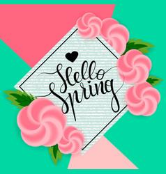 Hello spring 2 vector