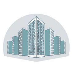 High buildings residential house tenement houses vector