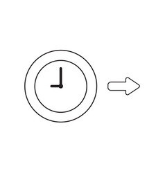 icon concept clock with arrow right vector image