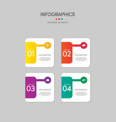 infographics business report template layout vector image
