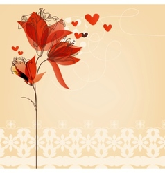 Love floral background vector