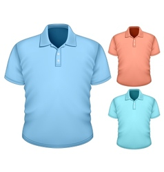 Mens polo-shirt design template vector