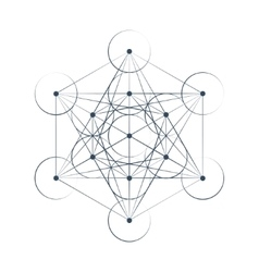 Metatrons Cube sacred geometry vector