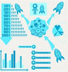 Moon infographics vector