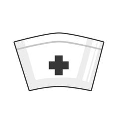 Nurse hat icon medical and health care design vector