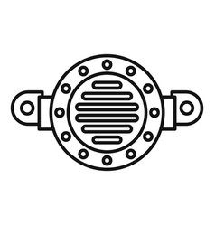 Old car horn icon outline style vector