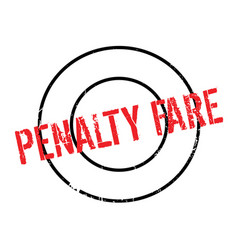 Penalty fare rubber stamp vector