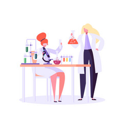 Pharmaceutic laboratory research concept vector