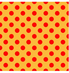 Pop-art comic yellow and red dotted circles vector