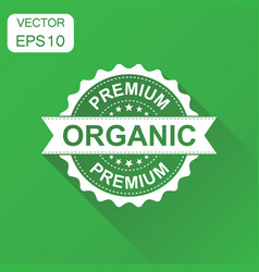 Premium organic rubber stamp icon business vector
