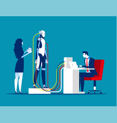 Robotics and technology concept business robot vector