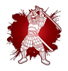 samurai warrior or ronin japanese fighter bushido vector image