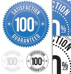 Satisfaction guaranteed seals set vector
