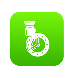 Save time icon green vector