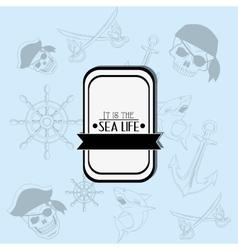 Sea life emblem image vector