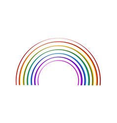 sketch of a rainbow vector image