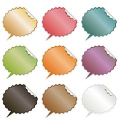 Speech bubble stickers vector