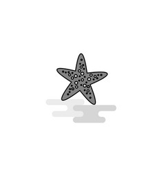 star fish web icon flat line filled gray icon vector image