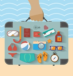 Summer infographics vector