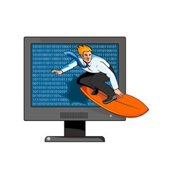 Surfer on the Net vector image