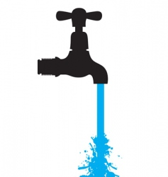 tap water vector image