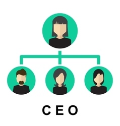 Team management ceo icon vector image