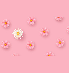 tender spring flowers on a geometric background vector image