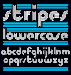 trendy modern lowercase alphabet letters vector image