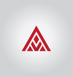 Triangle abstract logo vector