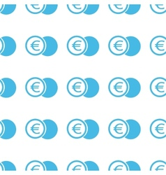 Unique Euro coin seamless pattern vector image