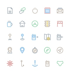 User Interface Colored Line Icons 26 vector image