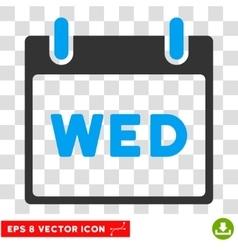 Wednesday Calendar Page Eps Icon vector